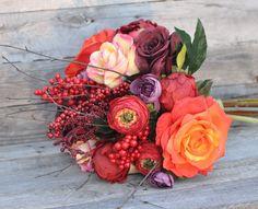 Art Nouveau Wedding Bouquet Bouquet Wedding by Hollysflowershoppe