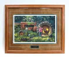 Our First Restoration 31 x 25 Framed Print by Charles Freitag John Deere