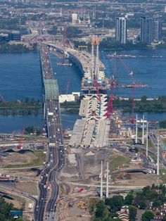 Thé News Champlain bridge on construction Old Montreal, Montreal Ville, Westminster, Montreal Architecture, Toronto, Canada, The Province, Far Away, Old Pictures