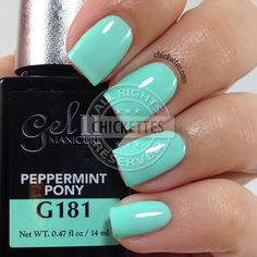 Gel II Peppermint Pony - swatch by Chickettes.com