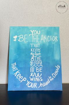 Anchor Quote Ombre Canvas Painting from Ellie K Studios