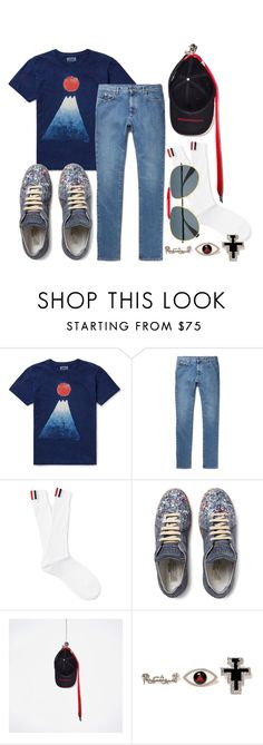 """""""pmo"""" by my-rina-world ❤ liked on Polyvore featuring Blue Blue Japan, Maison Margiela, Thom Browne, men's fashion and menswear"""