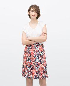 Image 1 of PRINTED SKIRT from Zara
