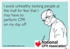#nurse on their day-off!  #nationalCPRassociation #nationalCPR