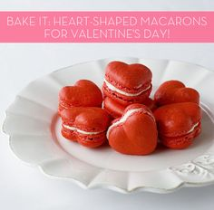 YUM: how to make heart-shaped, red velvet macarons! Perfect for Valentine's Day, yes?