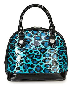 Another great find on #zulily! Turquoise Leopard Embossed Hello Kitty Satchel #zulilyfinds