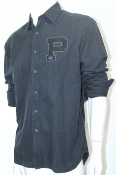 Polo Ralph Lauren Oxford Rugby Bulldog Shirt Button-Down Black Sz XLarge NWT  #PoloRalphLauren #ButtonFront