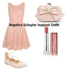 """Angelica Schuyler Inspired Outfit"" by liv-the-dreamer on Polyvore featuring Yumi, Boohoo, Material Girl and Maybelline"