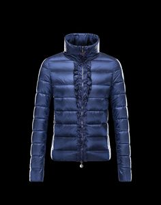 2013 New! France Moncler OXALIS Down Jackets Womens Collar Blue Outlet