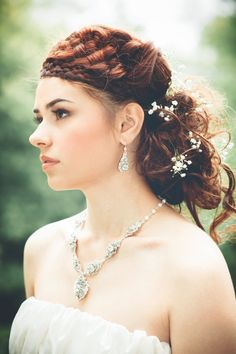 Handcrafted Lace Wedding Jewelry And Couture Bridal Designs Including Silver Gold Earrings Necklaces Bracelets Brooches Hair Ornaments