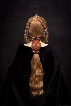 Renaissance Hairstyles, Historical Hairstyles, Headdress, Headpiece, Hair Inspo, Hair Inspiration, Hair Reference, How To Draw Hair, Hair Art