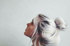 Silver hair - Reach this colour by toning platinum blonde hair with ash dye... When I'm 50:)