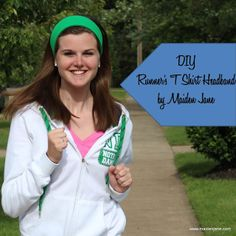 DIY No Headache Headband Made from Old T Shirt (No Sew Version Included!)