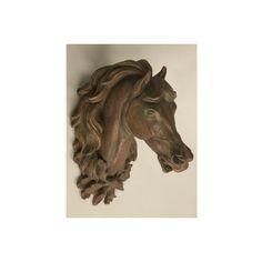 Faux Bronze Horse Head - Accessories ($799) via Polyvore