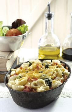 Idees Pasta-aand! Pasta-gebak met broccoli en spek » Idees