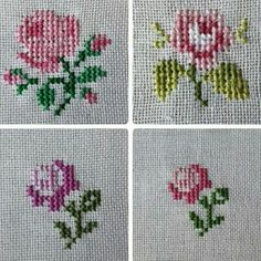 Designs in Machine Embroidery - Stitch Swag - Fashion Watch Bands - Embroidery Design Guide Mini Cross Stitch, Simple Cross Stitch, Cross Stitch Borders, Cross Stitch Rose, Cross Stitch Flowers, Cross Stitch Designs, Cross Stitching, Cross Stitch Patterns, Embroidery Applique