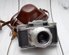 Vintage Braun Super Paxette II 35mm Rangefinder Camera with Leather Case by ValueBliss on Etsy