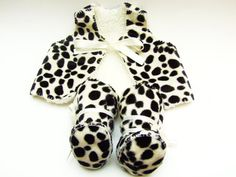 Baby Photo Prop  Dalmatian Faux Fur Baby Gift Set. by funkyshapes, $60.00