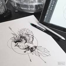 Resultado de imagen para geometric swallow tattoo design
