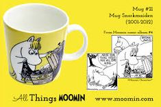 Mug – Snorkmaiden Produced: Illustrated by Tove Slotte and manufactured by Arabia. The original artwork can be found. Moomin Mugs, Tove Jansson, 21st, The Originals, Tableware, Mumi, Trays, Ephemera, Design