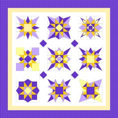 Little Bunny Quilts: Starburst Quilt Along Week #1 -- Block #1 and fabric requirements 1 quilt, 9 blocks