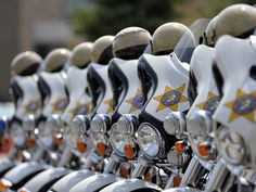 These Harley-Davidson Police Special motorcycles are