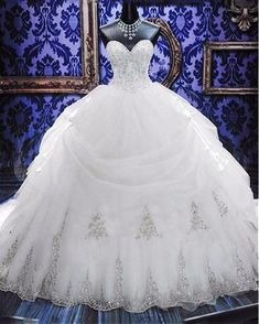 Plus sized Beaded Ball Gown Wedding Dress at Bling Brides Bouquet Online Bridal Store