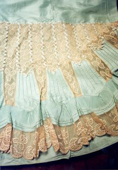 Detail from 1890's petticoat.