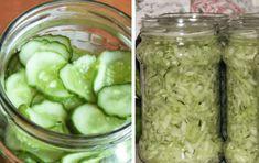 Okurkový salát do sklenic bez vaření nálevu: Vydrží celý rok je rychlý a chutná fantasticky! Preserves, Pickles, Cucumber, Cooking, Desserts, Recipes, Garden, Fitness, Syrup