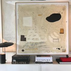 """New 48""""x48"""" oil, oil pastel and charcoal. #art #abstractart #abstractpainting #books #williammclure"""