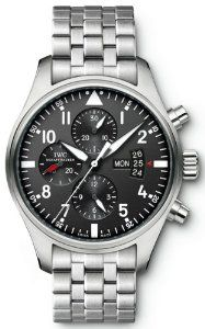 NEW IWC PILOT'S CHRONOGRAPH AUTOMATIC MENS WATCH IW377704