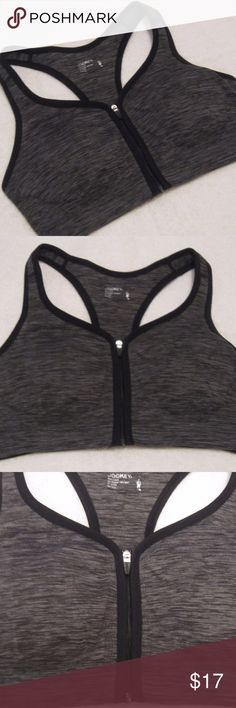 JOCKEY Zip Front Sport Bra.Brand New BRAND NEW .Jockey sports bra includes: - Zip front closure - Removable pads, a racerback  -Moisture wicking fabric.  -Choose from solid or space dye.  -53% Polyester, 42% Nylon, 5% Spandex.  -Machine wash. Tumble dry. Jockey Intimates & Sleepwear Bras