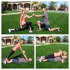 couples workout Lovers Lunges and Passion Push-Ups from Extreme Weight Loss trainers Chris and Heidi Powell Weight Loss Before, Best Weight Loss, Weight Loss Tips, Lose Weight, Couples Workout Routine, Couple Workout, Weight Loss Motivation, Fitness Motivation, Workout Fitness