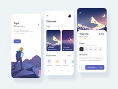 Travel App designed by Vadim Marchenko. Connect with them on Dribbble; the global community for designers and creative professionals. App Ui Design, Mobile App Design, Interface Design, Android Design, Apps, App Design Inspiration, Mobile App Ui, Application Design, Layout