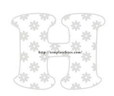 Large Bubble Stencil Letters H Alphabet Template with Flower for Kids | Free Printables | Coloring Pages | Cards | Calendars | Worksheets for Kids Bubble Letters Alphabet, H Alphabet, Alphabet Templates, Fancy Letters, Alphabet For Kids, Large Letter Stencils, Letter Designs, Applique Letters, Stencil Font