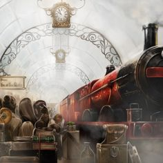 Harry Potter Costumes The Hogwarts Express at platform nine and three-quarters. Rpg Harry Potter, First Harry Potter, Harry Potter Cosplay, Harry Potter Characters, Harry Potter Universal, Wallpaper Harry Potter, Harry Potter Artwork, Saga, 4 Wallpaper