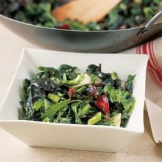 Stir-Fried Baby Greens with Ginger and Garlic    Williams-Sonoma