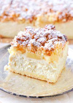 Sernik Ananasek Krispie Treats, Rice Krispies, Tasty, Yummy Food, Dessert Bars, Vanilla Cake, Cheesecake, Food And Drink, Sweets