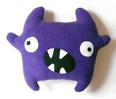 Zumba the monster pattern - Big plush Monster stuffed toy sewing pattern