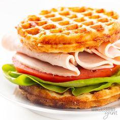 Keto Chaffles Recipe Ways! Wheat Free Recipes, Low Carb Recipes, Almond Flour Pizza Crust, Waffle Maker Recipes, Low Carb Waffles, Poppers Recipe, Almond Flour Recipes, Coconut Flour, Keto Waffle