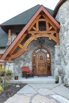 Timber frame entrance Like and Repin. Thx Noelito Flow. http://www.instagram.com/noelitoflow