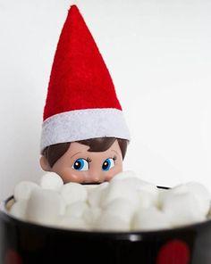 Elfing Hot Chocolate Elf on the Shelf Idea