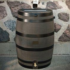 RTS Home Accents 50 gal. Rain Barrel with Woodgrain Brass Spigot-55100006005681 - The Home Depot