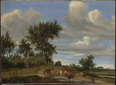 Salomon van Ruysdael (Dutch, ca 1600-1603). A Country Road, 1648. The Metropolitan Museum of Art, New York. Rogers Fund, 1906 (06.1201)