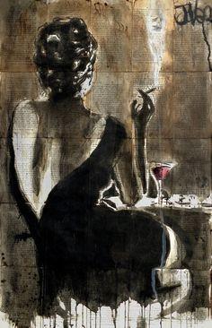 """""""Cocktail"""" Illustration de l'artiste australien contemporain Loui Jover"""