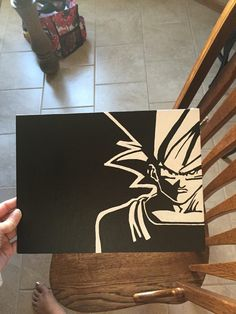 Goku Dragon Ball Z  Painted Video Game Character by SimpleSwank https://www.etsy.com/shop/simpleswank