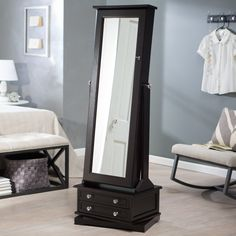 Have to have it. Belham Living Swivel Cheval Jewelry Armoire - Espresso - $379.98 @hayneedle