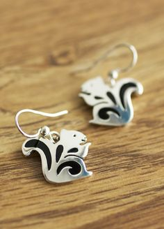 Anything but nutty! Let our cheeky sterling squirrel earrings add a bit of whimsy and charm to your day.