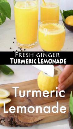 Turmeric Lemonade, Turmeric Drink, Ginger Drink, Buy Turmeric, Ground Turmeric, Healthy Juices, Healthy Fruits, Healthy Smoothies, Healthy Drinks