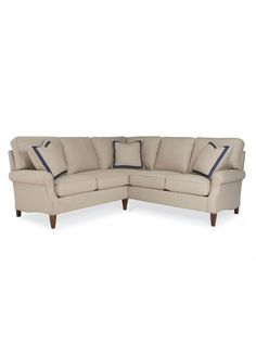 Clearwater Loveseat Corner Sectional, Tapered Leg, RSF Sofa / LSF Loveseat